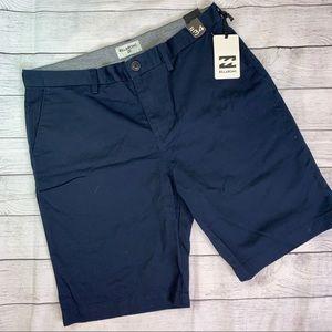 Billabong NWT Navy MXX-Daily Stretch Shorts Sz 34